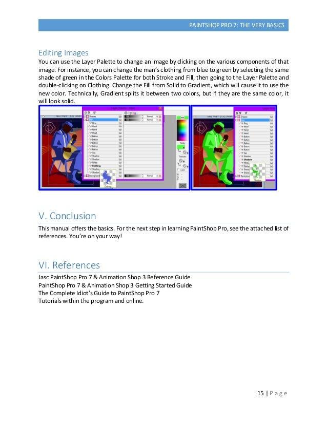 Paintshop Pro 7 Manual