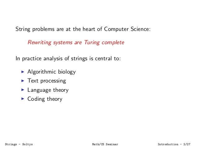 Algorithms on Strings Slide 2