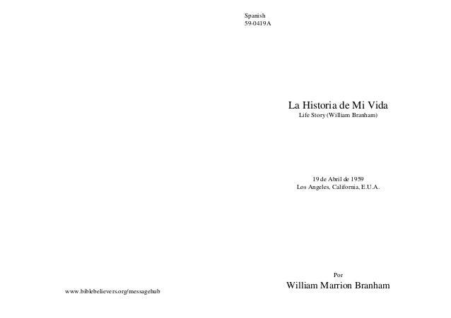 Spanish                                    59-0419A                                               La Historia de Mi Vida  ...