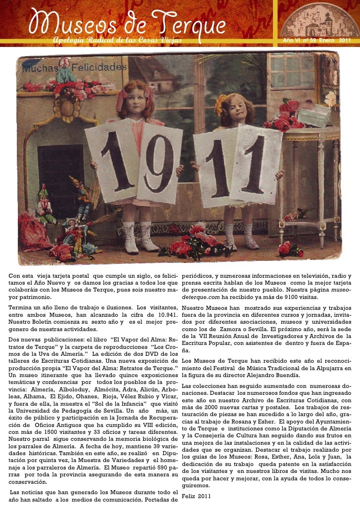 Museos de Terque                Apología Radical de las Cosas Viejas                                               Año VI ...