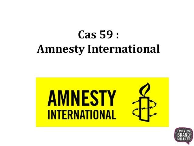 Cas 59 :  Amnesty International