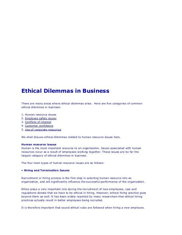Case Study of an Ethical Dilemma - UK Essays | UKEssays
