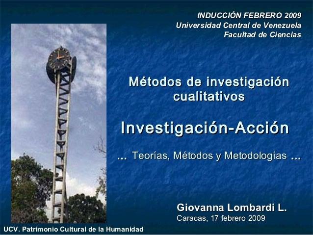 INDUCCIÓN FEBRERO 2009                                           Universidad Central de Venezuela                         ...