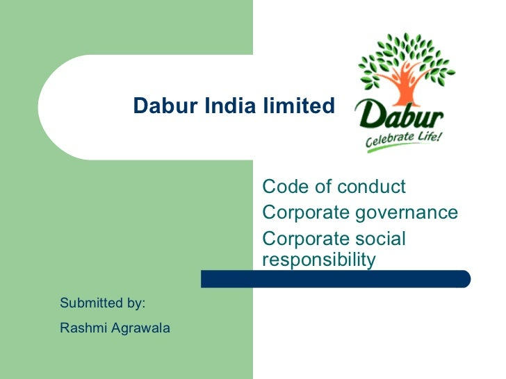 Dabur India limited                       Code of conduct                       Corporate governance                      ...