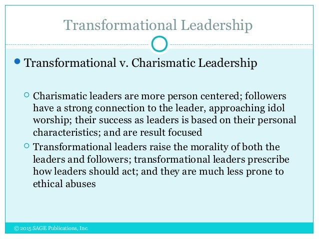 differences between visionary and charismatic leader The authors posit that the primary difference between transformational leadership and servant leadership is the focus of the leader  and other charismatic leaders .
