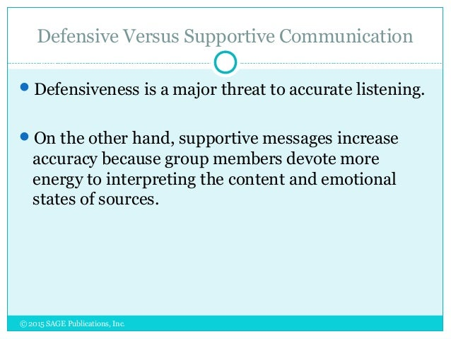 concepts of supportive communication and supportive listening Supportive communication is a style of communicating that and that concept is an important part though she is not valued or considered to be worth listening.