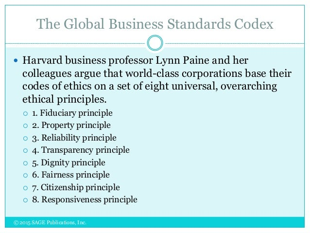 international codes of business conduct
