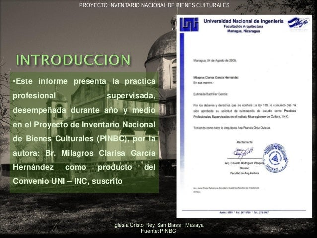 INFORME DE PRACTICA PROFESIONAL SUPERVISADA ARQ. MILAGROS GARCIA Slide 2