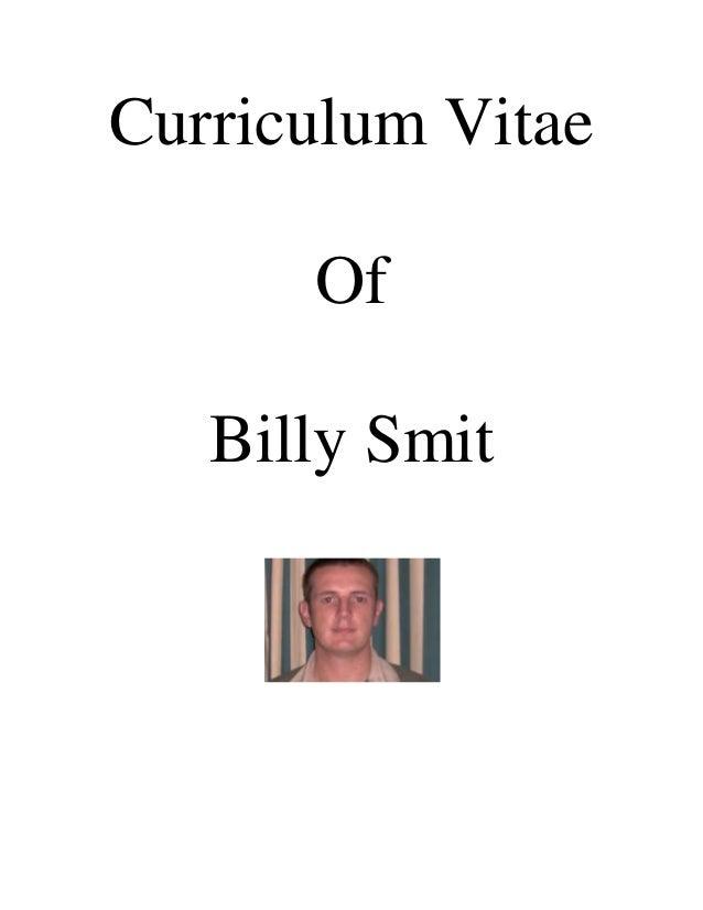 Curriculum Vitae Of Billy Smit