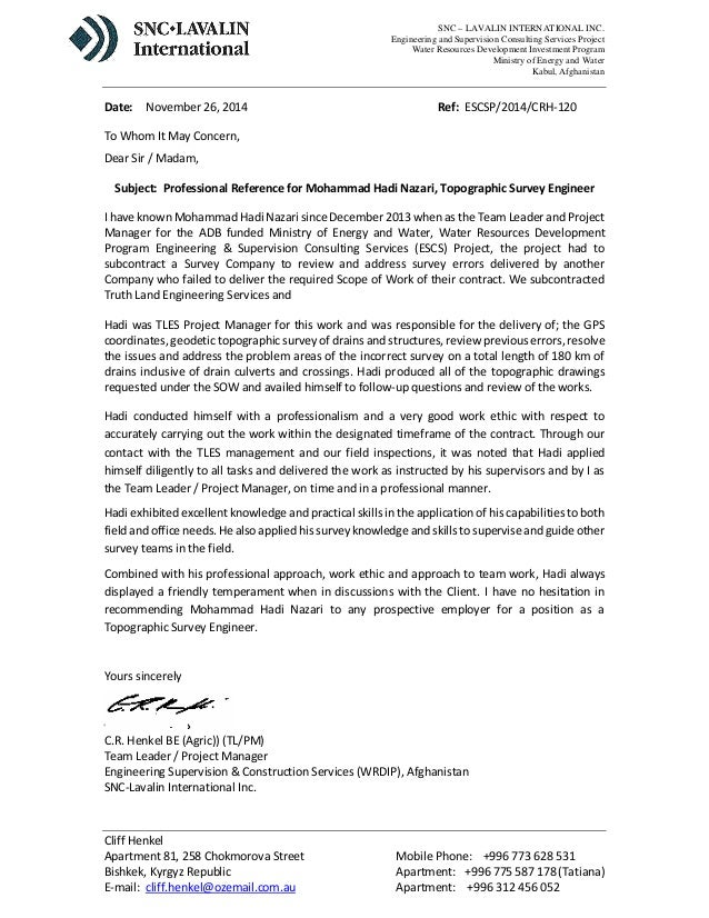 Copy Of A Reference Letter  CityEsporaCo