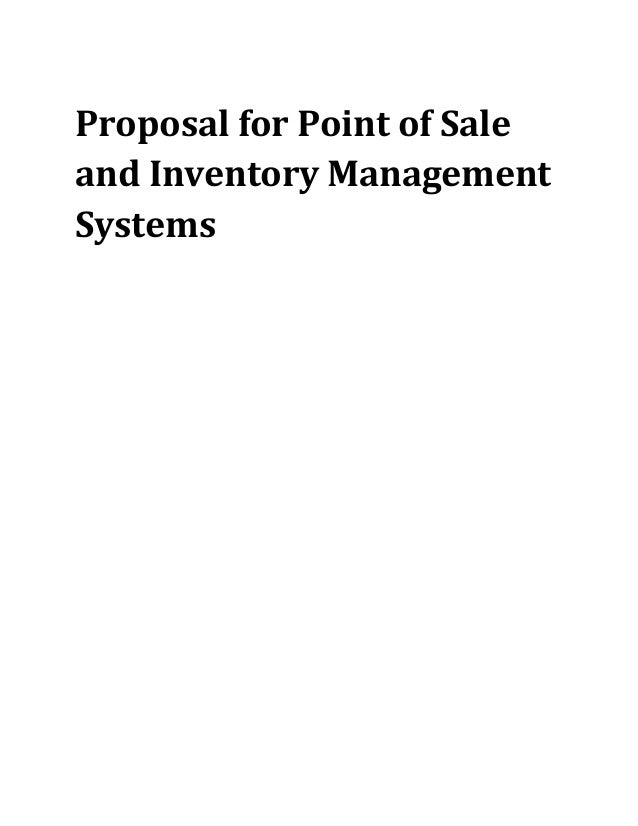 Inventory Management System Proposal