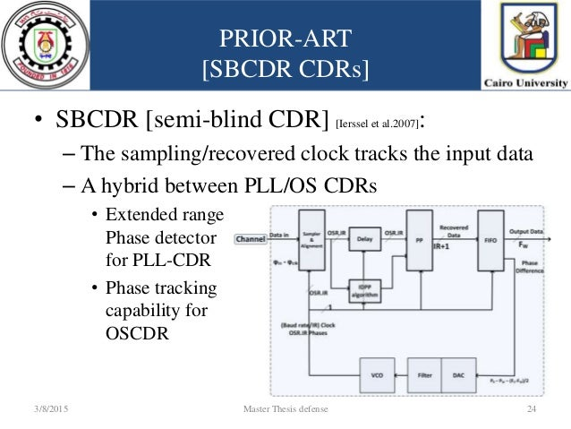 clock data recovery thesis High speed clock and data recovery techniques this thesis presents two contributions in the the second contribution is a burst-mode clock and data recovery.