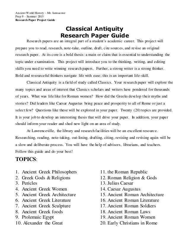 greek mythology research paper outline 9th grade mythology research paper research a topic or character in greek mythology and write a short paper about your research paper outline:.