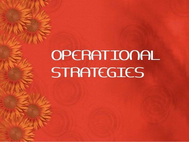 OPERATIONALSTRATEGIES