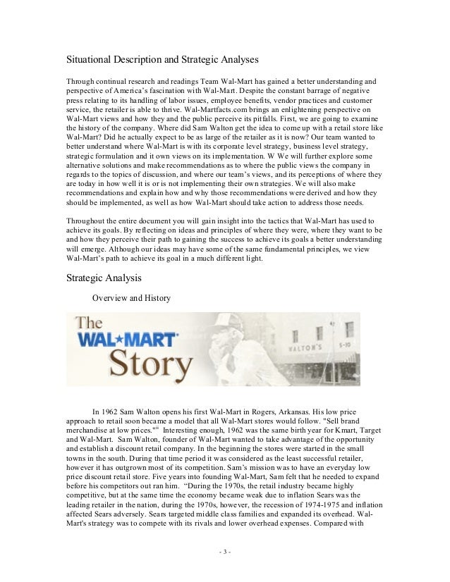 walmart organizational strategy