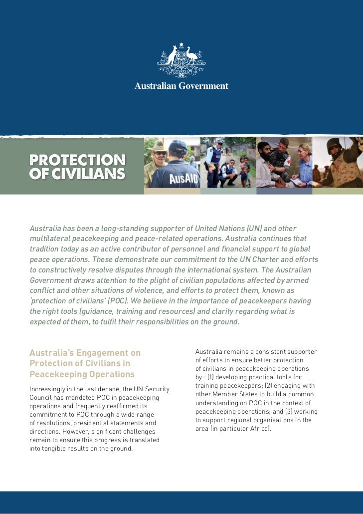 Australia has been a long-standing supporter of United Nations (UN) and othermultilateral peacekeeping and peace-related o...