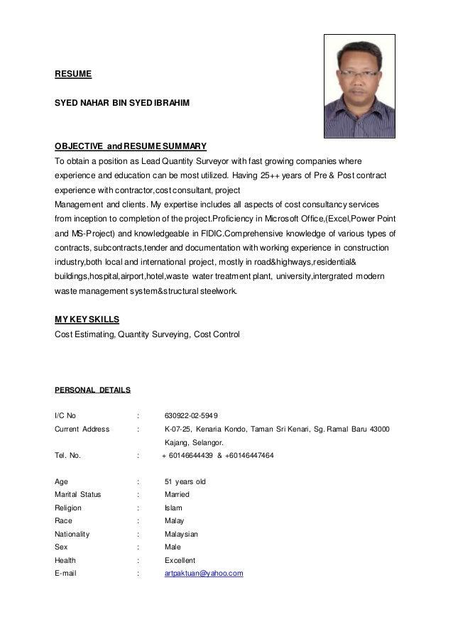 syed nahar u0026 39 s resume