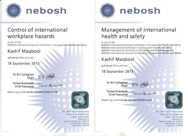 nebosh unit d examiners paper The course has four unit-wise elements as defined by nebosh, uk  one 3-hour written paper combining  based practical assignments for unit d,.