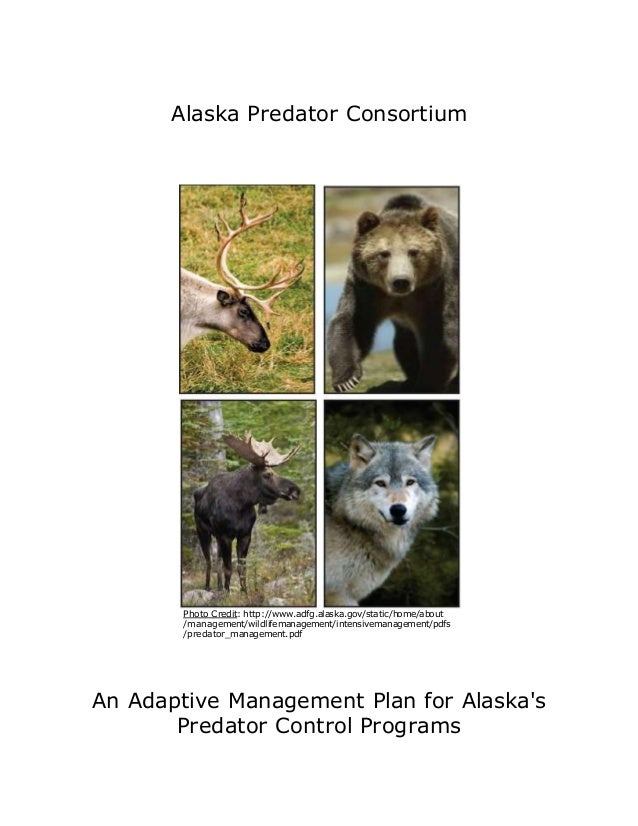 Alaska Predator Consortium Photo Credit: http://www.adfg.alaska.gov/static/home/about /management/wildlifemanagement/inten...