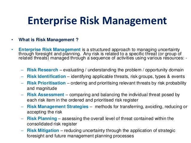 research paper on enterprise risk management