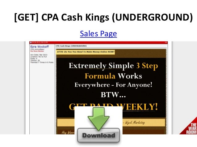 [GET] CPA Cash Kings (UNDERGROUND)Sales Page