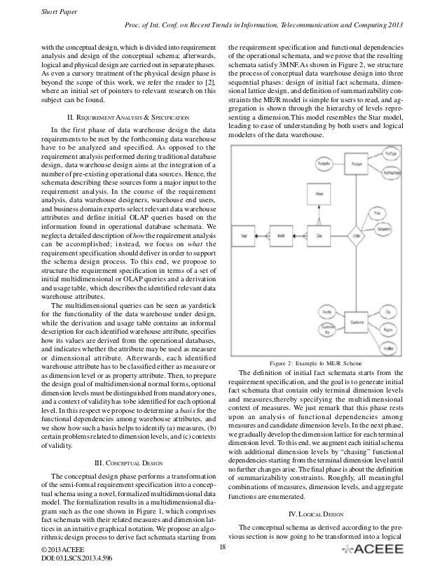 Me R Model A New Approach Of Data Warehouse Schema Design