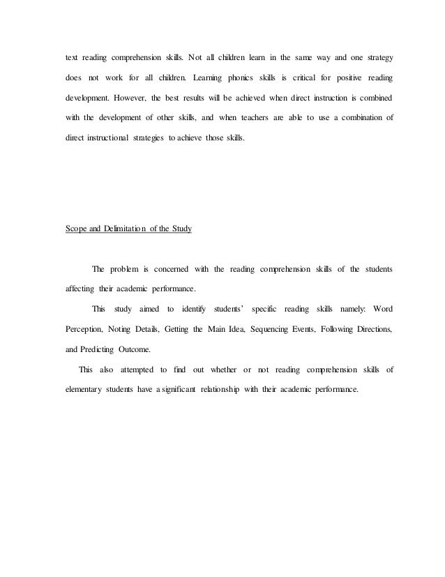 Thesis on factors affecting reading comprehension how to start a cover letter for a business plan