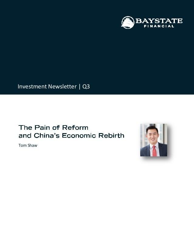 Tom Shaw Investment Newsletter | Q3