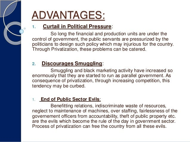 advantages of public sector over private sector