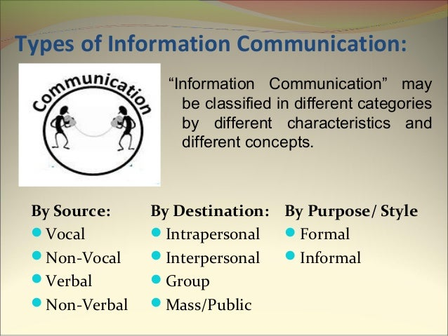 types of group communication Communication a key to human development - the role of communication  especially if combined with group discussions and other tools which create a dialogue.