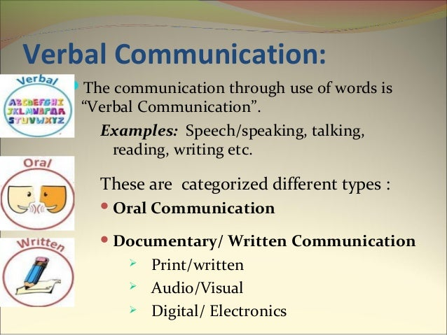 types of Information Communication