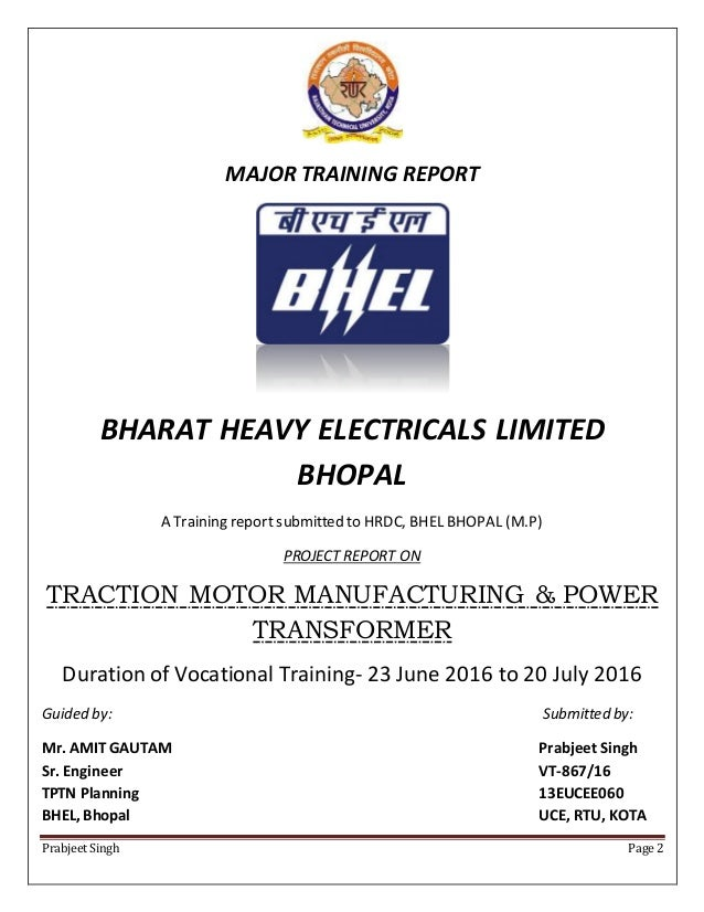 traction motor manufacturing amp power transformer bhel