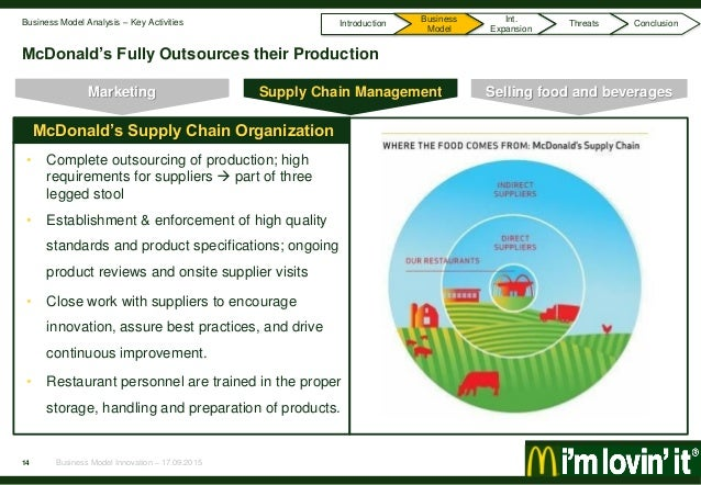 mcdonalds global supply chain case Over the past 40 years, havi has grown in size, global reach, and breadth ted perlman and bob rocque form perlman rocque distribution agreed to respond to the supply needs of mcdonald's restaurants in havi logistics and havi supply chain solutions and market our supply chain.