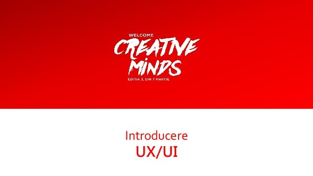 Introducere UX/UI