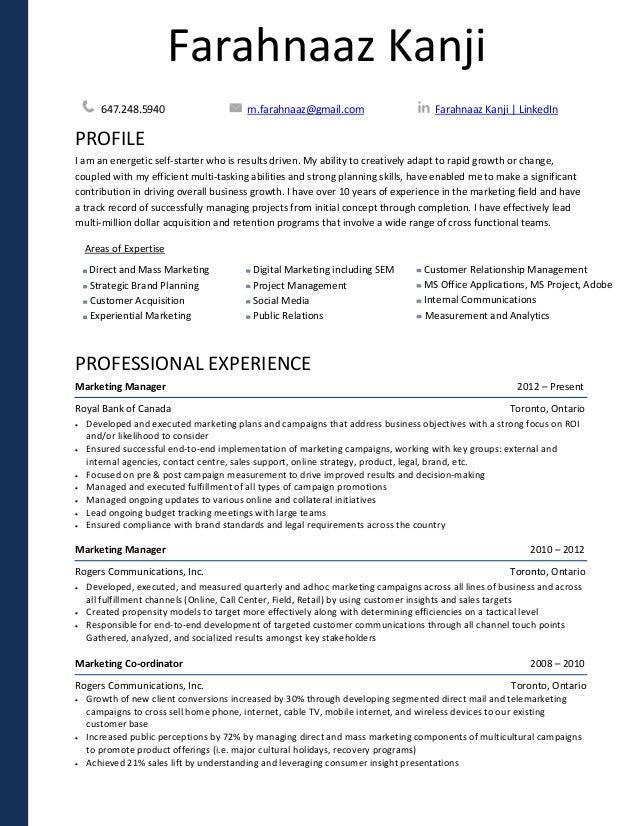 farahnaaz kanji resume