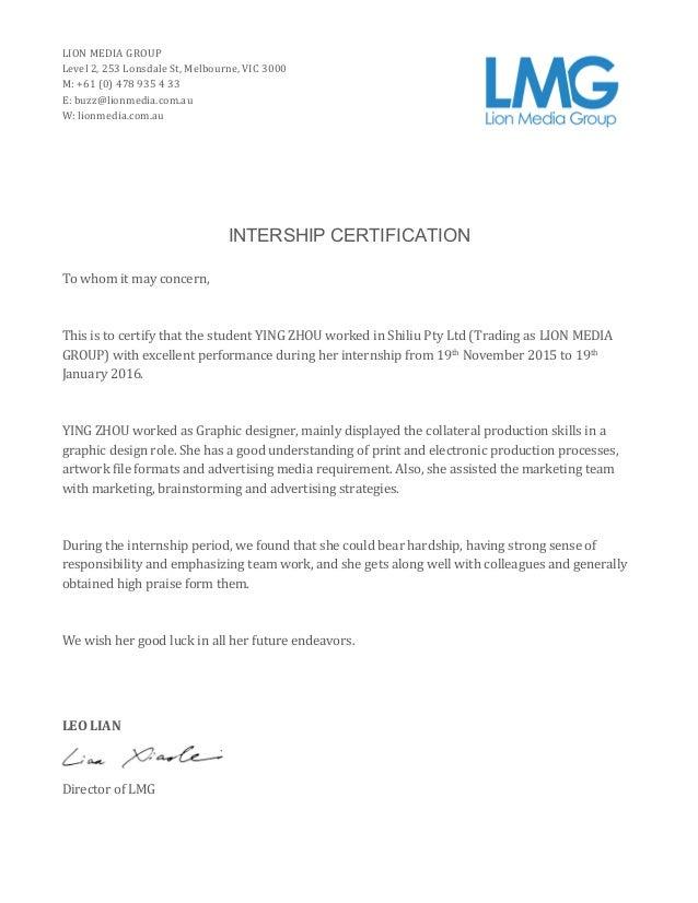 Lmgintership Certificate Graphic Designer