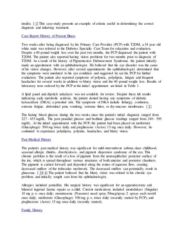 Type 1 diabetes mellitus ati video case study