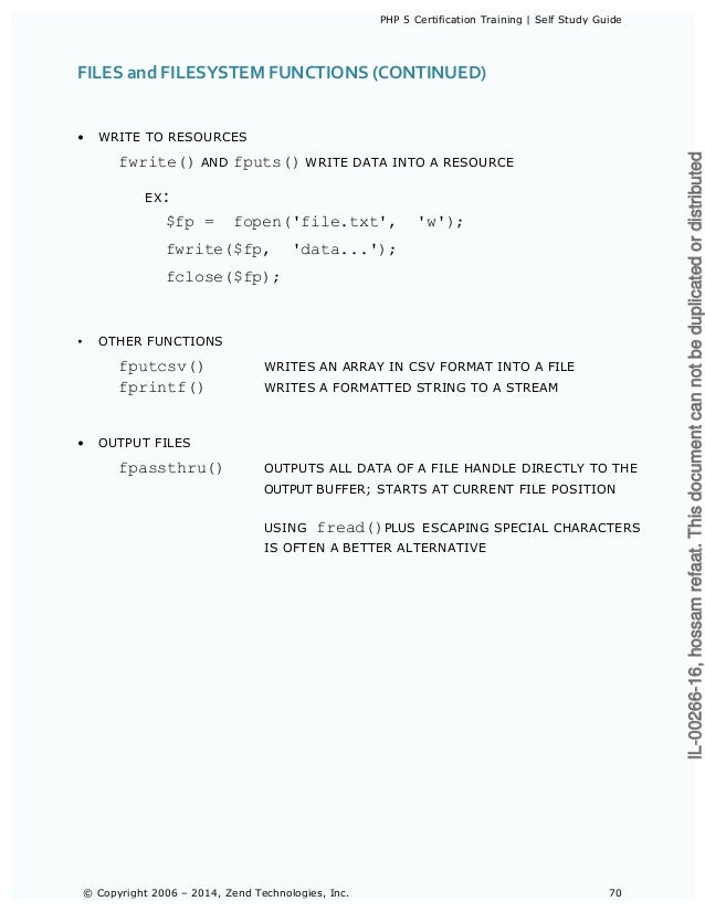 zend php 7 certification study guide pdf