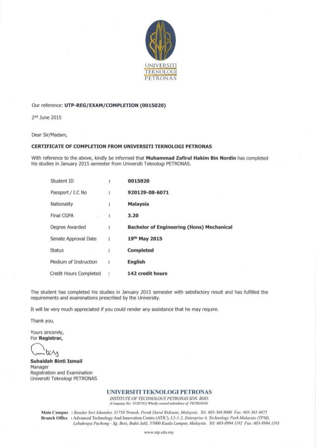 University study completion letter thecheapjerseys Images