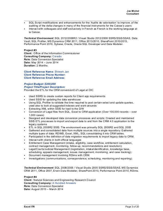 3 - Data Modeler Resume