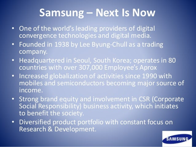 samsung operations strategy Energy management strategy - samsung electronics has adopted various measures such as high-efficiency facilities, energy management systems and training programs for employees to reduce energy consumption across all operations.