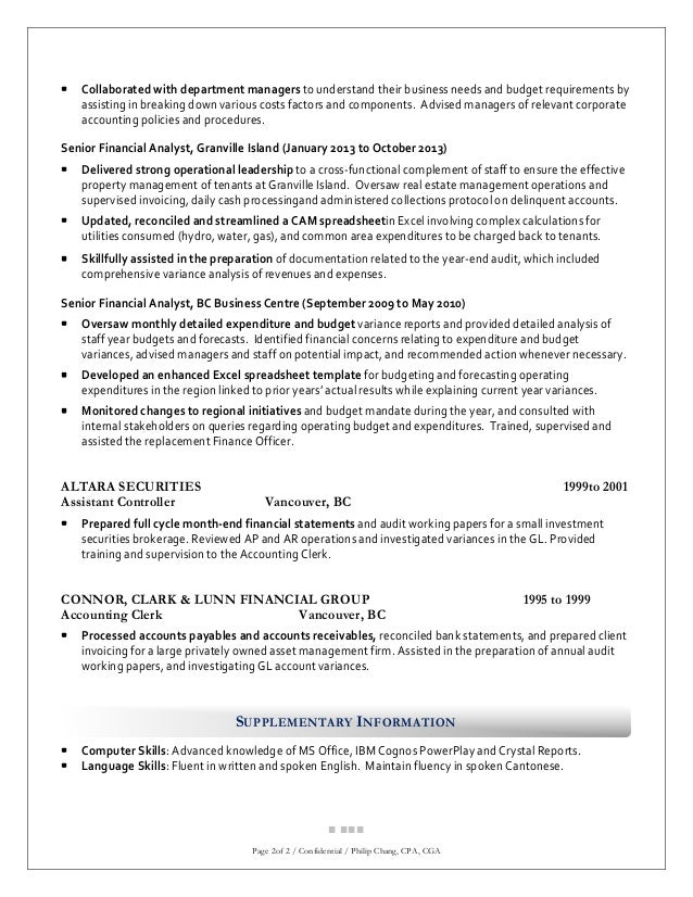 philip chang cga resume for financial analyst position 1