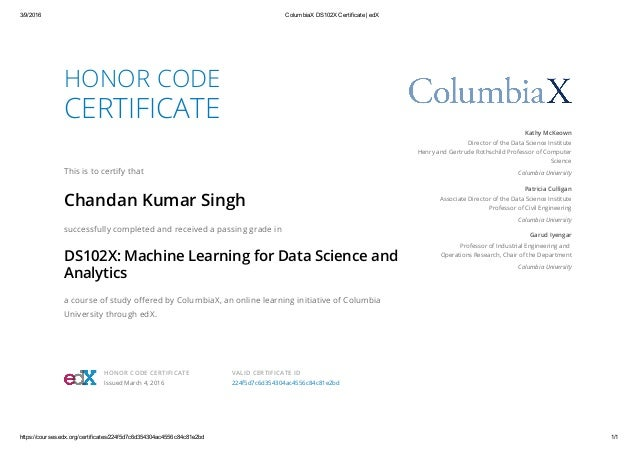 columbiax ds102x machine learning for data science and analytics cert…