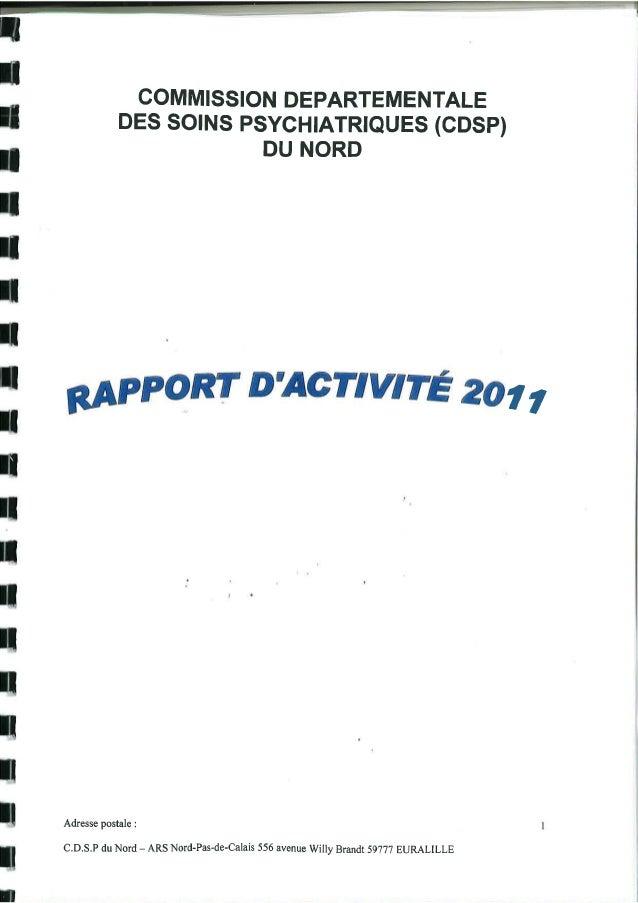 59 rapport activité cdsp 2011