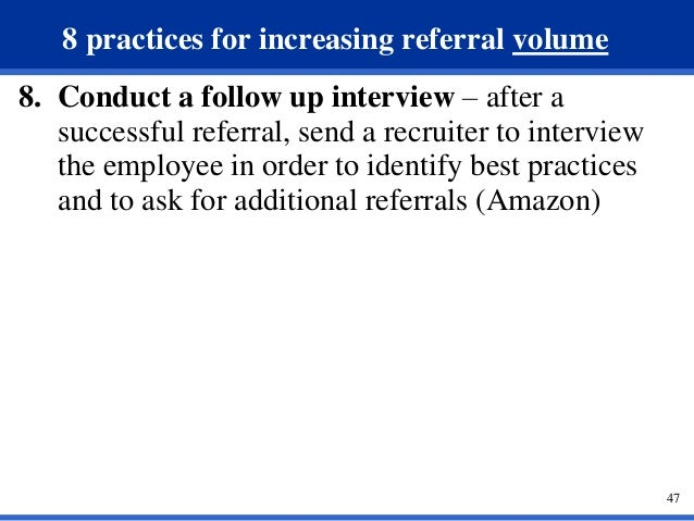how to ask for employee referrals