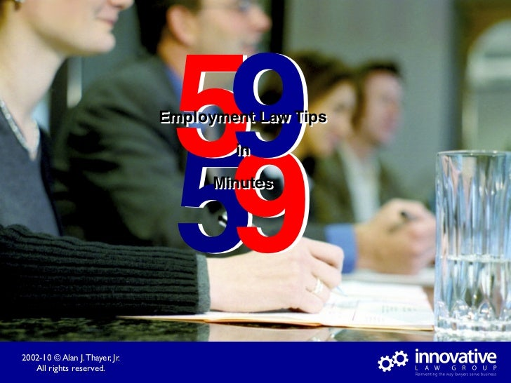 59                                 Employment Law Tips                                      59                            ...