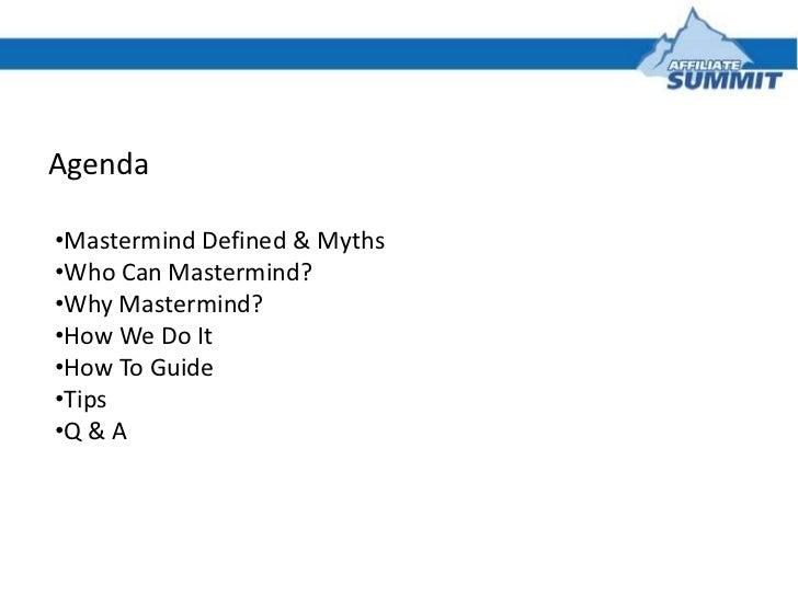 Mastermind Groups Exposed: Success in Affiliate Marketing Slide 2