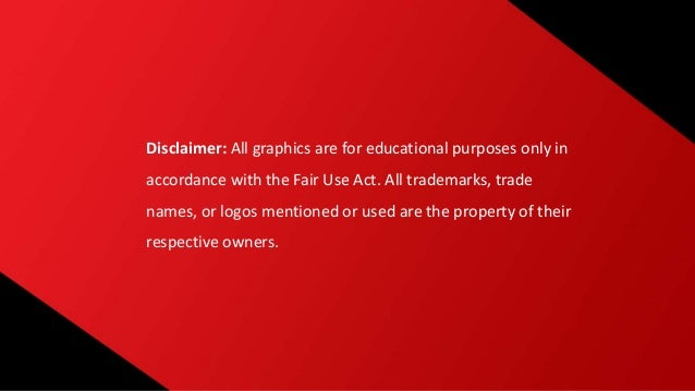 Disclaimer: All graphics are for educational purposes only in accordance with the Fair Use Act. All trademarks, trade name...