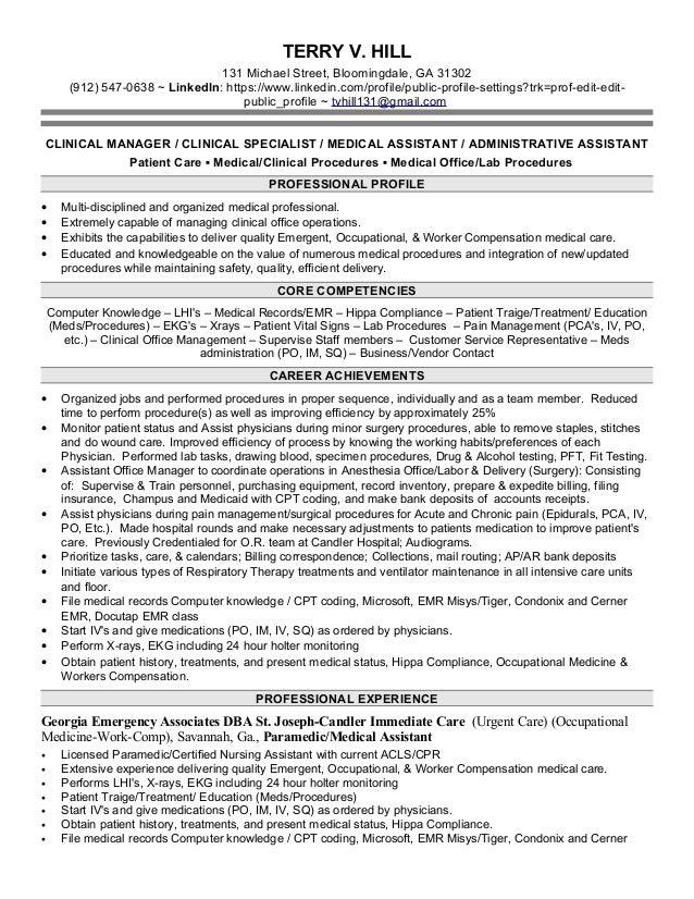 resume medical assistant