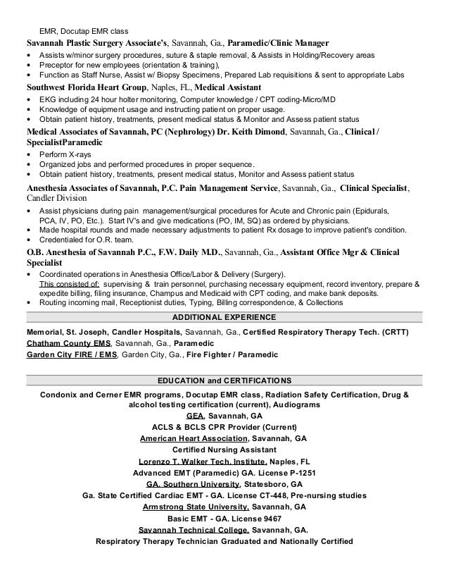 Tvh Resume Medical Assistant